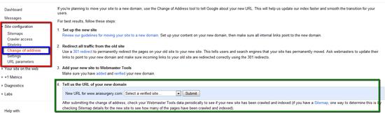 google change of address tool