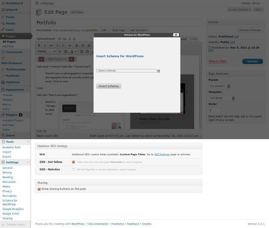 schema for wordpress