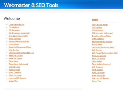 webmaster and seo tools
