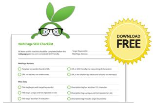Free Landing Page SEO Checklist