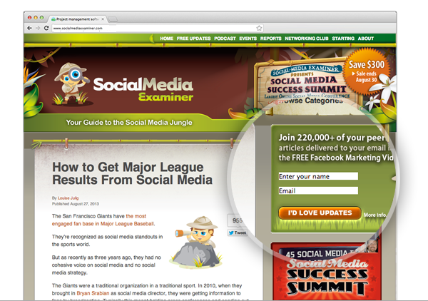 social media examiner social proof