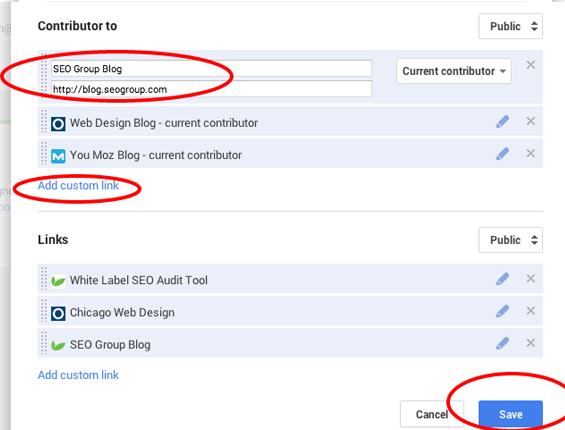 Google Authorship Setup