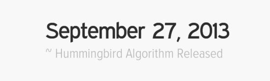google-hummingbird-launch-date