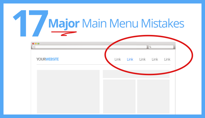 Website Navigation Menu Tips and Mistakes