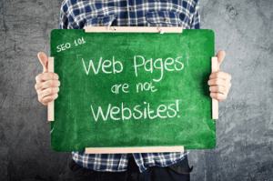 Web Pages versus Web Sites