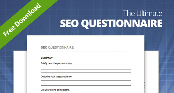 FREE DOWNLOAD: The Ultimate SEO Questionnaire