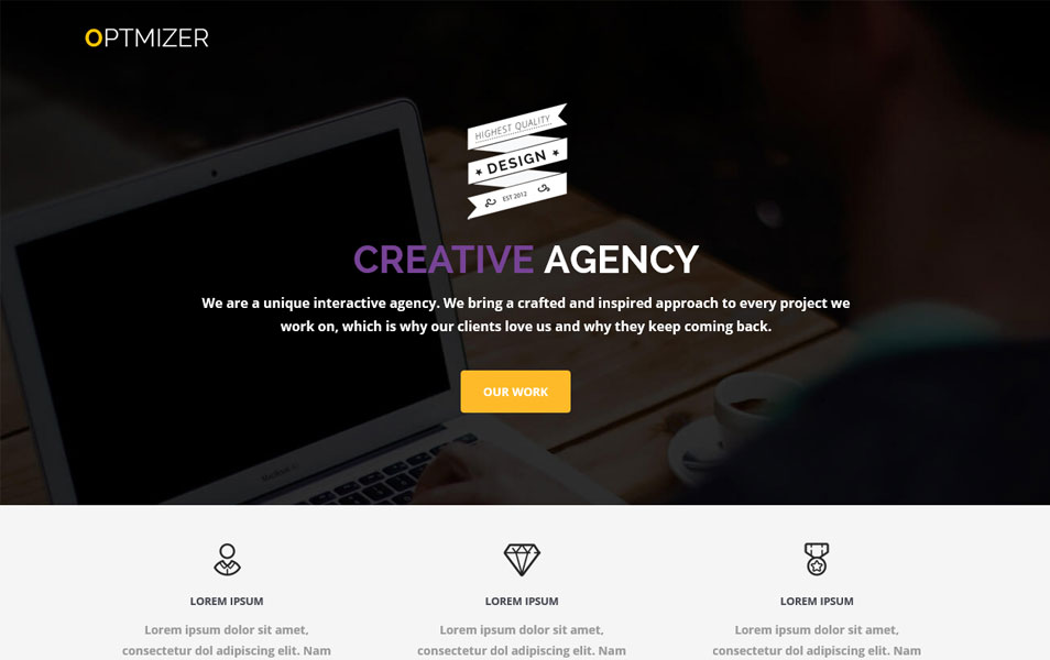23 creative wordpress themes for web design agencies for Create your own wordpress theme from an html template