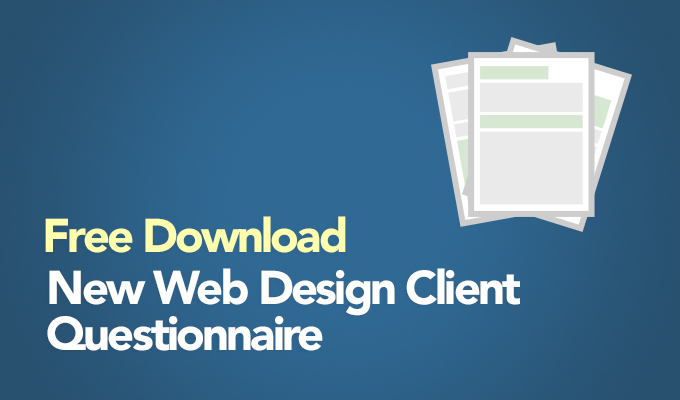 Free Download: New Web Design Client Questionnaire