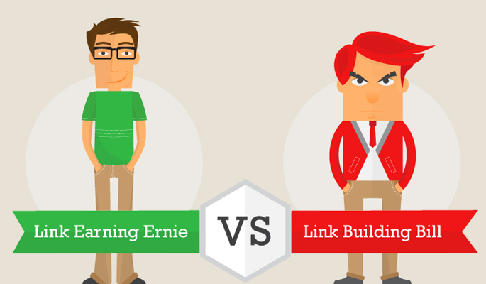 Link Earning vs. Link Building Infographic