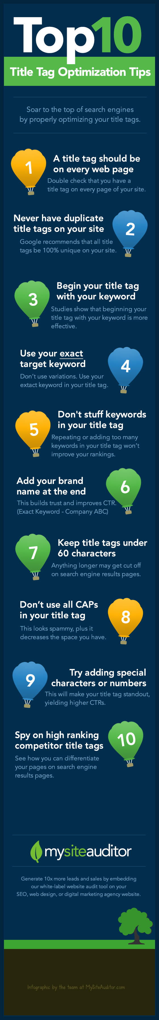 title tag seo tips infographic