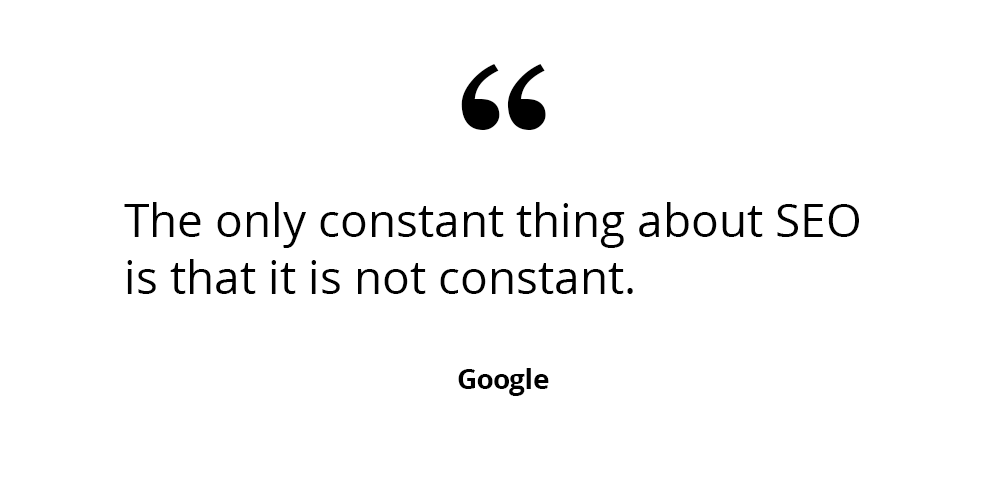 Google seo quote
