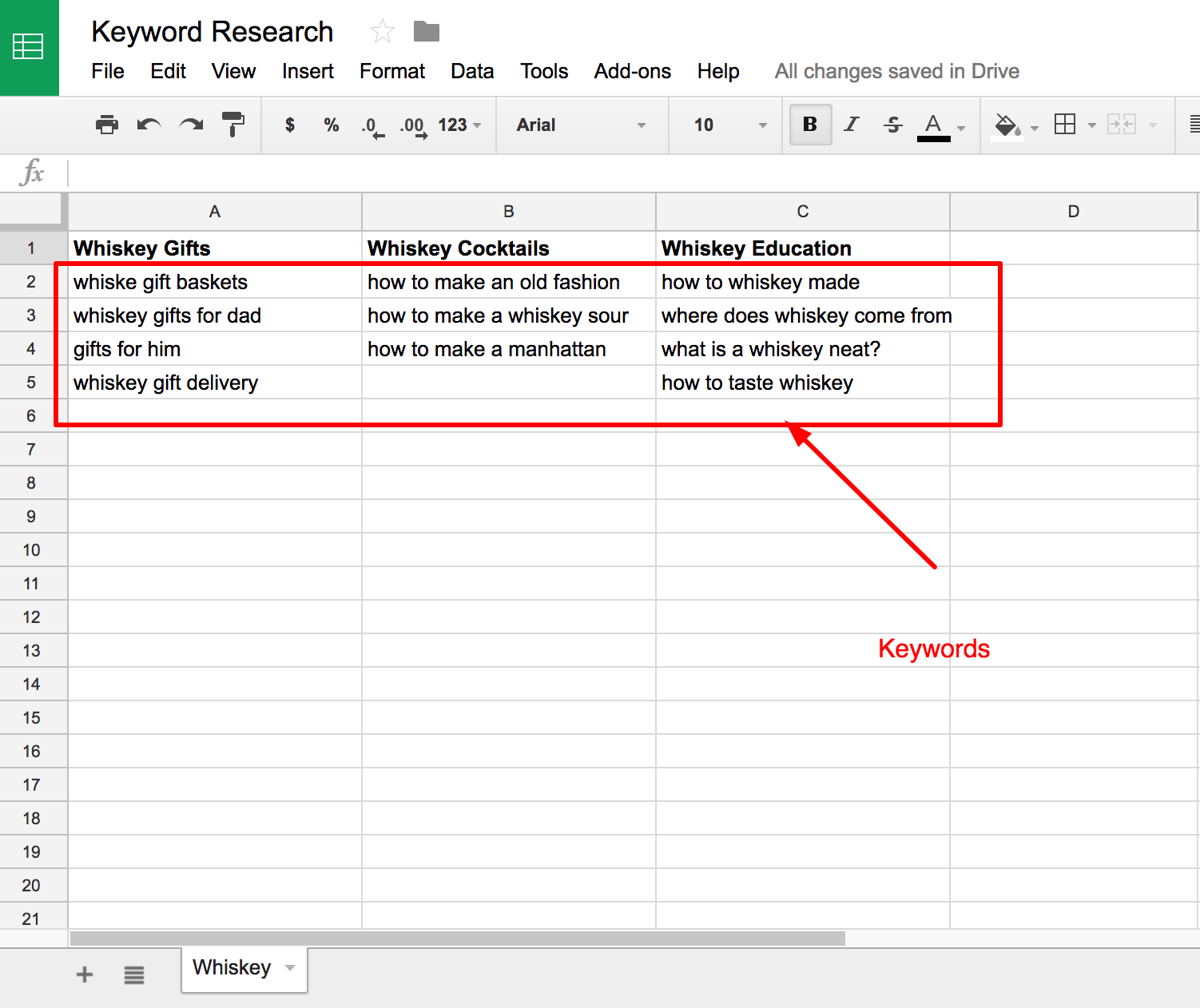keyword research step 3