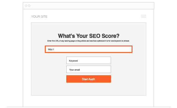 Landing Page SEO report