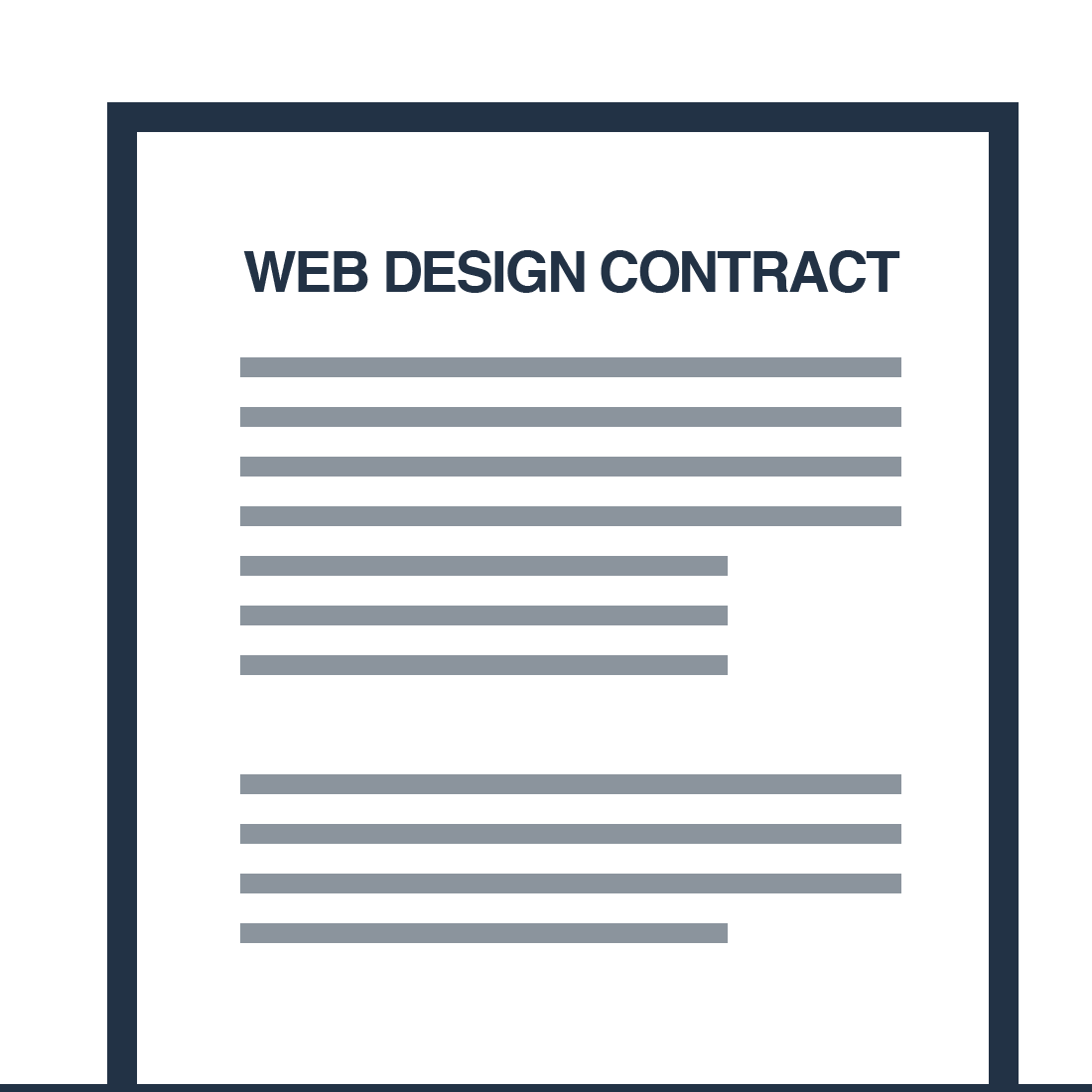 Free Web Design Contract Mysiteauditor