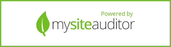 Powered by MySiteAuditor