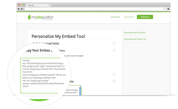 Embeddable SEO Audit Tool