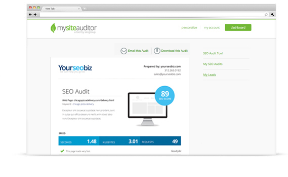 Personalize SEO Audit Tool