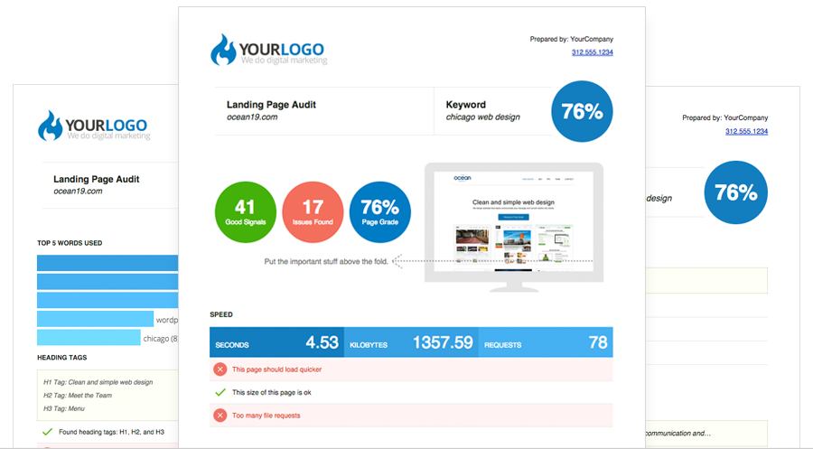 SEO Report Tool - White Label & Embed Options